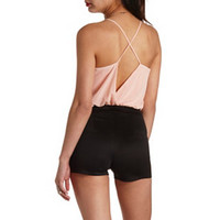OPEN BACK BOW-WAIST ROMPER