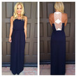 Marks the Spot Maxi Dress - NAVY