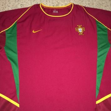 Sale!! Vintage Nike PORTUGAL Home 2002/2004 Soccer Jersey Authentic Football Shirt