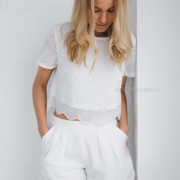 lacey two piece - white