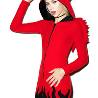 She Devil Horny Hood Costume RED