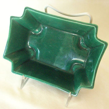 Vintage Green Planter California Pottery  small by 4oldtimesandnew
