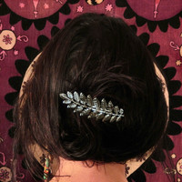 Greek Goddess Silver Hair Clip