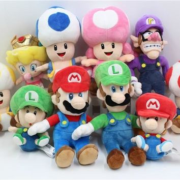 Super Mario party nes switch New Official   Plush Luigi 8 inch Blue Toad Waluigi Koopa Toadette... Plush Toys Xmas Gift AT_80_8