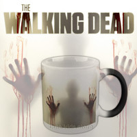 The Walking Dead Mugs Coffee Tea Milk cup Hot Cold Heat Sensitive Color changing Ceramic Mug