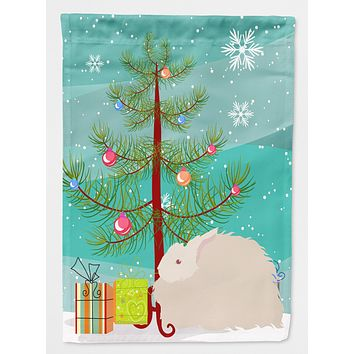 Fluffy Angora Rabbit Christmas Flag Canvas House Size BB9326CHF