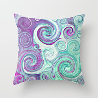 flow Throw Pillow by Sylvia Cook Photography