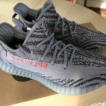 yeezy boost 350 v2 size 9 grey new