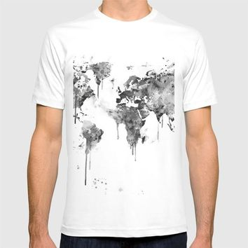 World Map T-shirt by MonnPrint