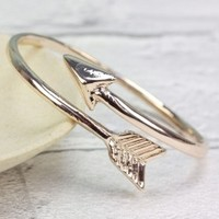 Buy Rose Gold Arrow Bangle from lisaangel.co.uk :: Lisa Angel Jewellery and Gifts