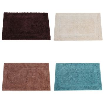 4 color Coarse Wool Fabric Bath Mats Bathroom Rug