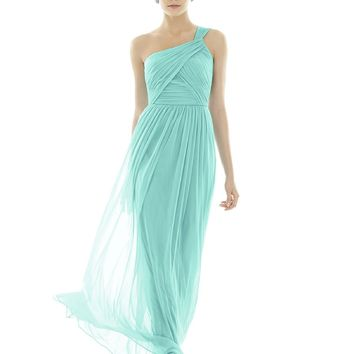 Alfred Sung by Dessy D691 Long One Shoulder Bridesmaid Dress
