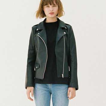 Womens Classic Leather Rider Jacket