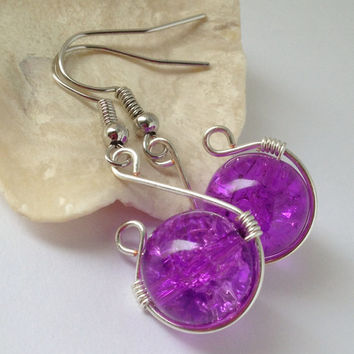 Light Purple Simple Earrings, Simple Purple Earrings, Free Shipping anywhere in the USA