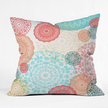 Monika Strigel Happy Go Lucky Throw Pillow