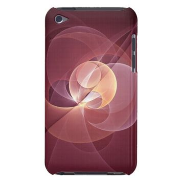 Movement Abstract Modern Wine Red Pink Fractal Art Case-Mate iPod Touch Case