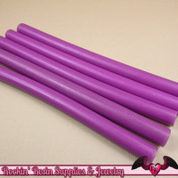 5 Purple Mini Hot GLUE STICKS / Deco Sauce / Fake Icing / Nail Art Stick / Faux Wax Seals