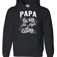 Papa the man the myth the legend hoodie birthday father's day Christmas xmas gift ideas for him