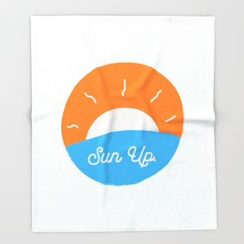 Sun Up Throw Blanket by Josh Franke | Society6