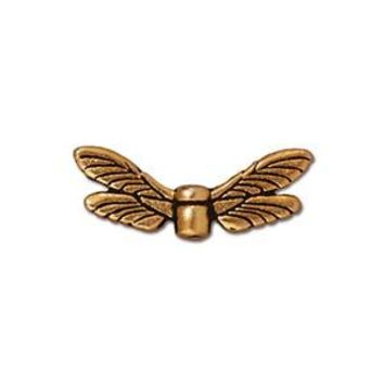 94-5588-26 - TierraCast Antique Gold Pewter Dragonfly Wings | Pkg 2