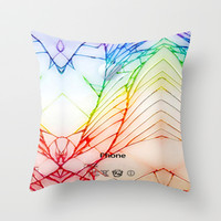 Broken, rupture, damaged, cracked out apple iPhone Throw Pillow case by Three Second