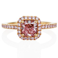 DE BEERS - Pink Diamond Aura Engagement Ring - J1BW16F06K |