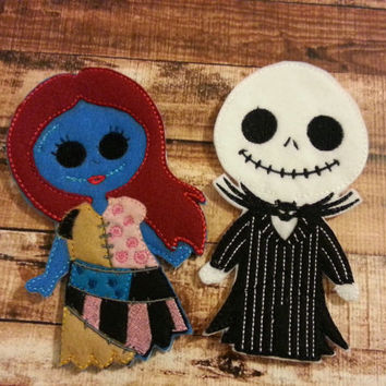 Jack and Sally Stick Puppets