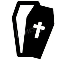 Halloween Coffin Wall Home Glass Window DoorCar Sticker Laptop Auto Truck Black Vinyl Decal Sticker Decor Gift 10.0cmX13.0cm