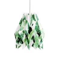 Origami Lamp | TROPICAL | Special Edition | Handmade Lampshade | FREE SHIPPING