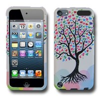 CoverON(TM) WHITE Hard Cover Case with LOVE TREE Design for APPLE IPOD TOUCH 5 With PRY- Triangle Case Removal Tool [WCL614]