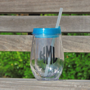 Custom Tumbler, bev2go cup, acrylic cup, cup with straw, acrylic tumbler, monogrammed cup, personalized cup, wedding party favor, kids cups