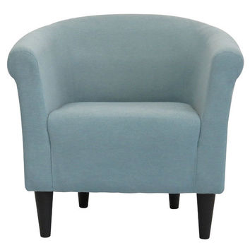 Light Blue Upholstered Contemporary Classic Living Room Accent Chair