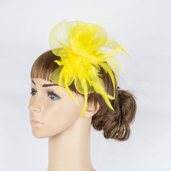 Good quality multiple color  crinoline fascinator headwear church headpiece party  hair accessories suit forall seasons TMYQ053