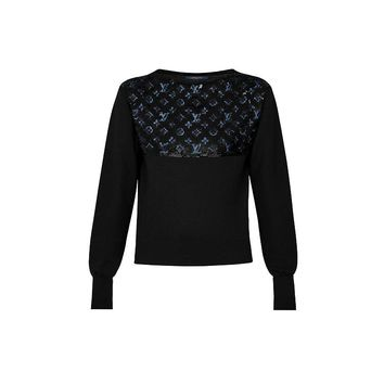 Products by Louis Vuitton: Sweater With Monogram Embroideries