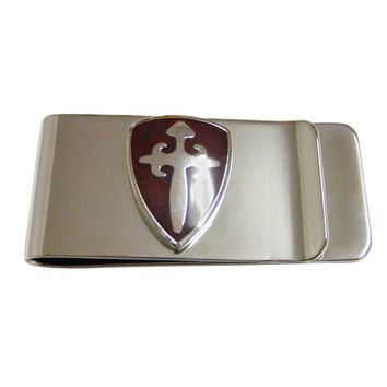 Brown Medieval Shield Money Clip