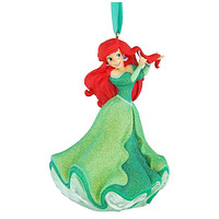Disney Parks Ariel with Fork 3D Glitter Christmas Ornament New with Tags