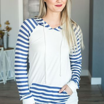 Wish Upon A Star Striped Hoodie- Multiple Options