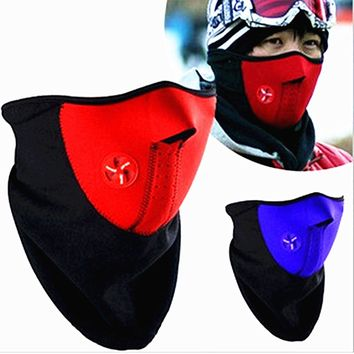 Sport Face Mask Outdoor Ski Snowboard Cycling Windproof Mask Thermal Fleece Scarf Training Fitness Facemask