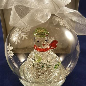 Lighted Hand Blown Christmas Ornament
