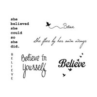 Tattify Inspirational Temporary Tattoos - Shiny Things (Complete Set of 12 Tattoos - 2 of each Style) - Individual Styles Available - High Quality and Fashionable Temporary Tattoos