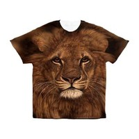 African Lion Face Men's All Over Print T-Shirt> African Lion Face> Taglines Tshirts and More