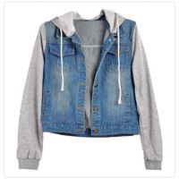 Jean Jackets Hooded Coat