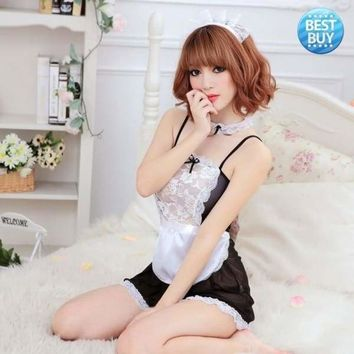 Best Sexy Halloween Costume French Maid Princess Cosplay Fancy Dress Lingerie Uniform