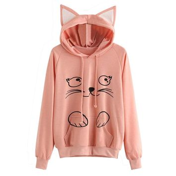 Sumen Teen Girls I'm a Cat Hoodie Sweatshirt With Saying
