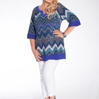Grenada Plus Size Tunic in Cobalt