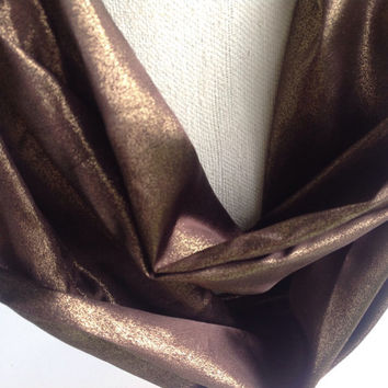 Brown Bronze infinity Satin Gift for Coworker, Mom, Christmas gift, Gift Friend, Boss gift, Warm neck scarf, Bulky Chunky scarf