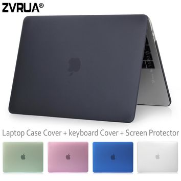 ZVRUA Beautiful Laptop Case for Oct 2016 Release New Macbook Pro 13 15 inch with Touch Bar , model A1706 / A1707 / A0708