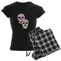Comitragic DODT Skulls Pajamas> Colorful Comitragic Muertos> Jan4insight Designs