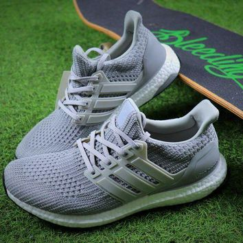 CREYNW6 Adidas Ultra Boost UB 4.0 Silver Sport Running Shoes