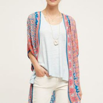Rapti Kimono by Anthropologie in Blue Size: One Size Tops